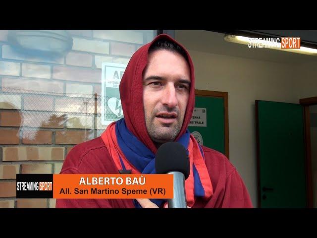 Intervista a Alberto Baù allenatore del San Martino Speme 19 settembre 2021
