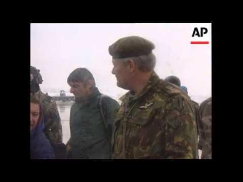 Bosnia - Walker Arrives In Sarajevo