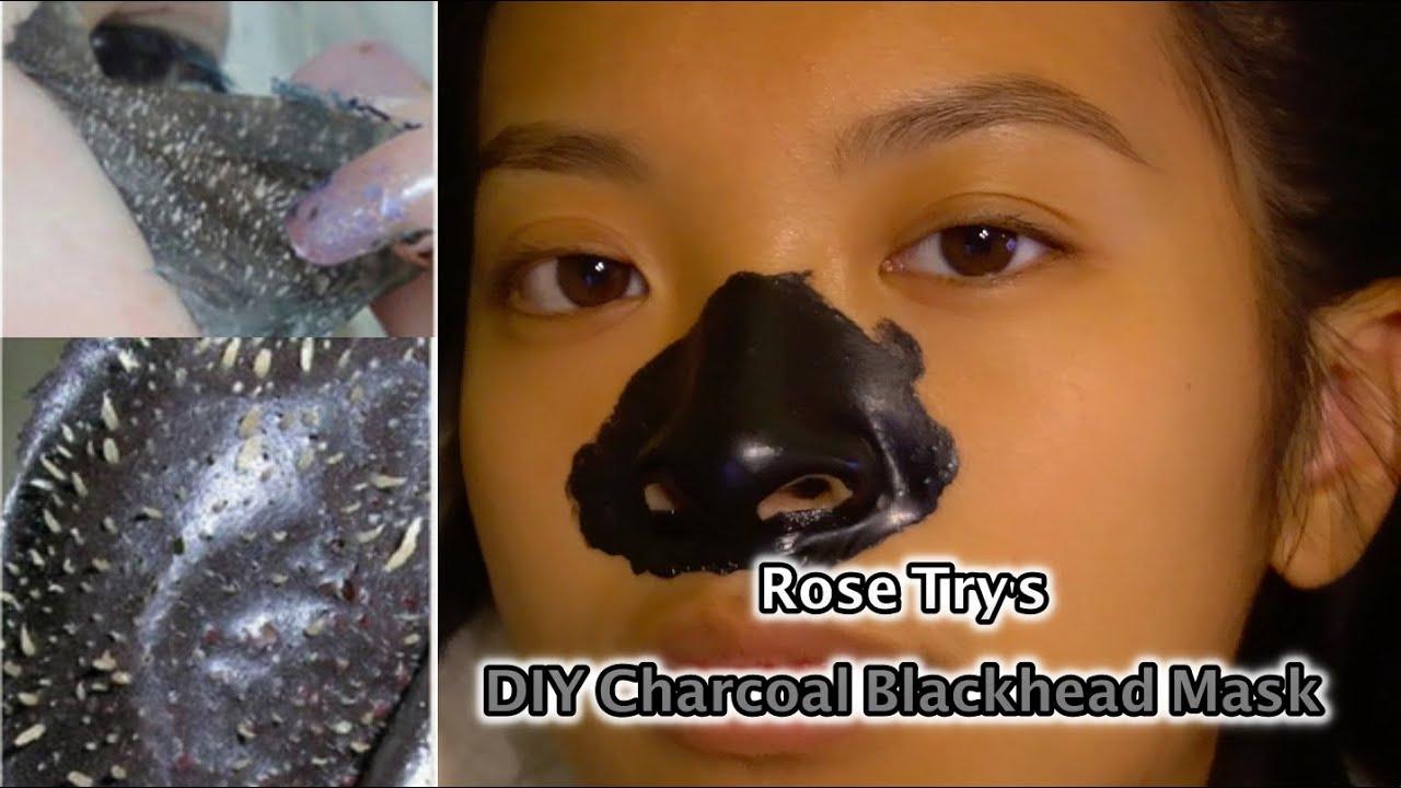 Rose Tries It Ep.1: DIY Charcoal & Elmer's Glue Blackhead ...  Rose Tries It E...