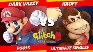 Glitch 8 SSBU - MVG   Dark Wizzy (Mario) Vs. Kroft (Donkey Kong) Smash Ultimate Tournament Pools