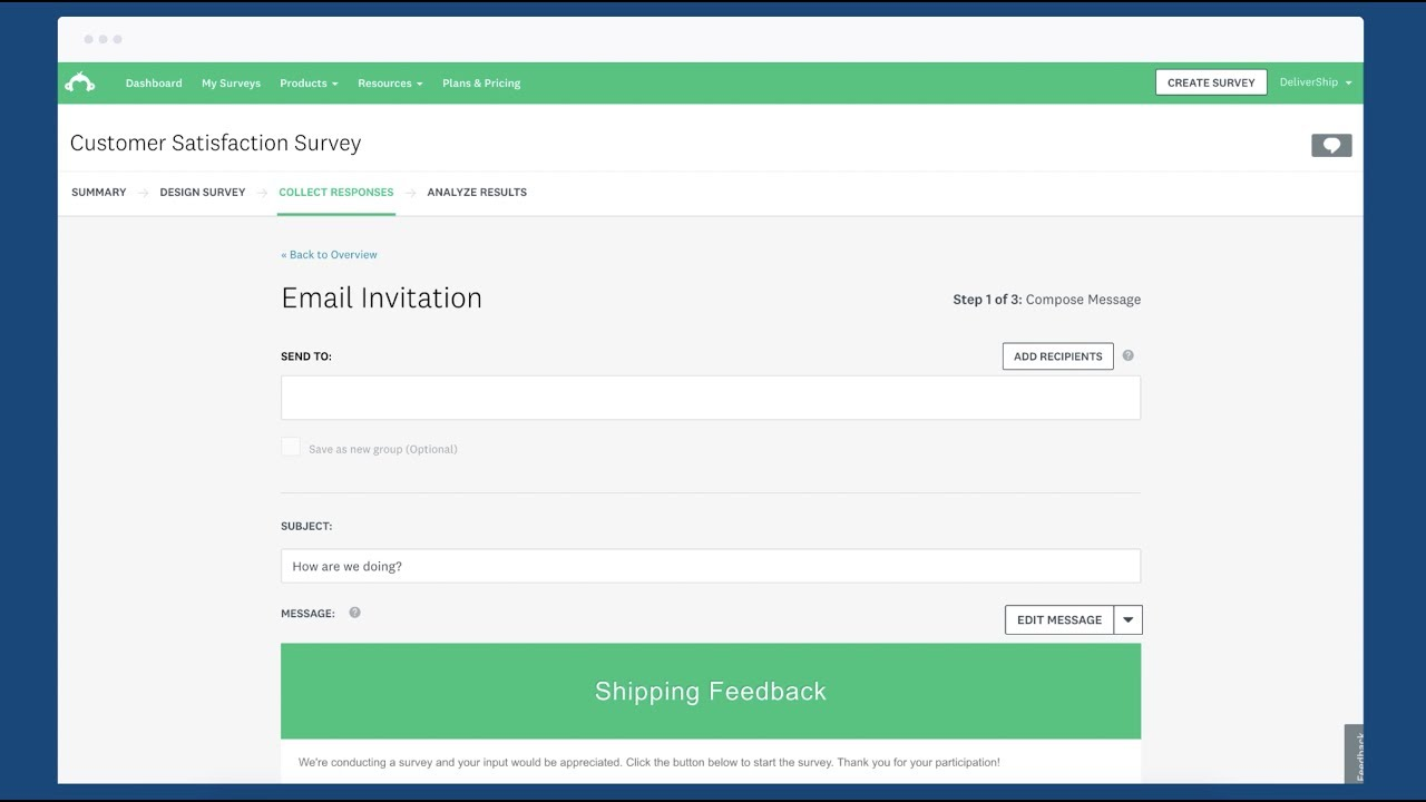 How to send a survey by Email with SurveyMonkey