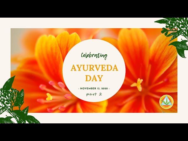 Ayurveda Day 2020 | Vaidya Asvin Barot