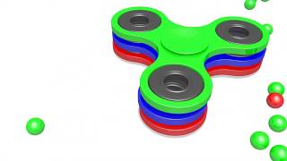 Magic 3D Indoor Playground FidgetSpinner  for Kids to LEARN COLORS  kids city tv