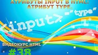 Атрибуты input в HTML: Атрибут type. #38