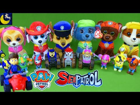 LOTS of Paw Patrol Sea Patrol Toys! My Size Lookout Tower Sea Patroller Boat Pup TY Beanie Boos Toys