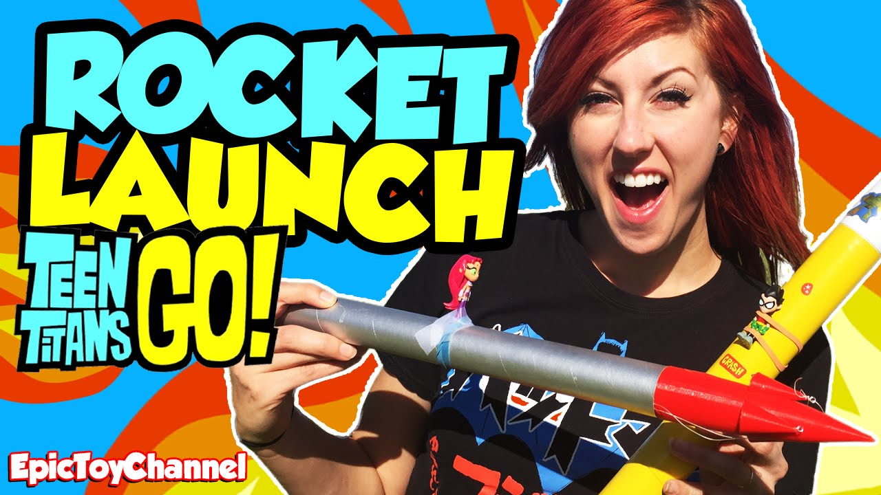 Download TEEN TITANS GO! Toys Rocket Launch Watch Starfire, Cyborg & Teen Titans Launched by Epic Toy Channel