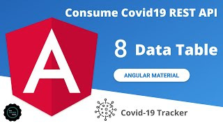 Angular Material Data table | Consume Covid19 REST API | javatechie