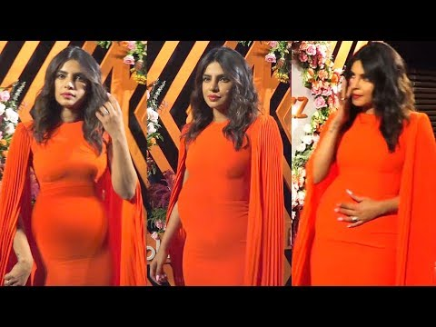 PREGNANTT Priyanka Chopra Jonas Flaunting Her Baby Bump At The Launch Of Her New Dating App BUMBLE