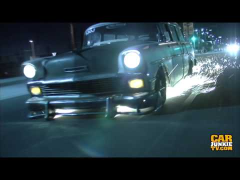 1957 Chevy Bel Air Wagon: Spark Show Down San Fernando Blvd