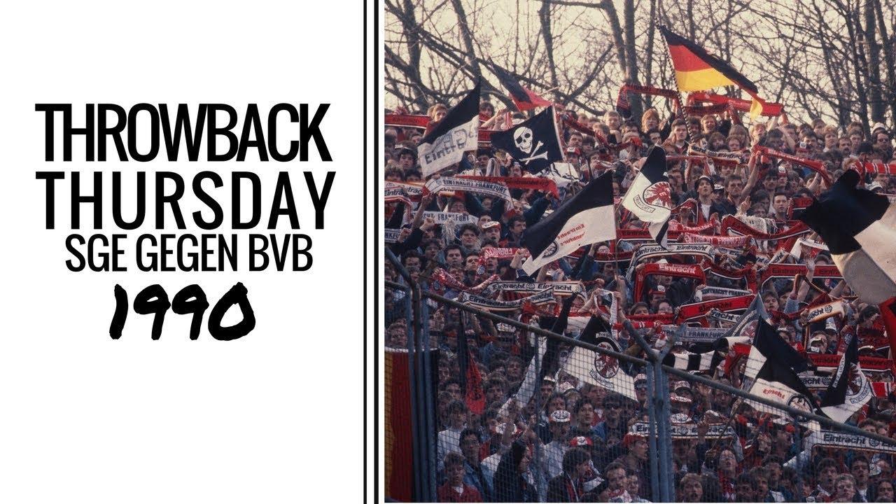 Tbt Sge Bvb 3 1 1990 Eintracht Dortmund Youtube