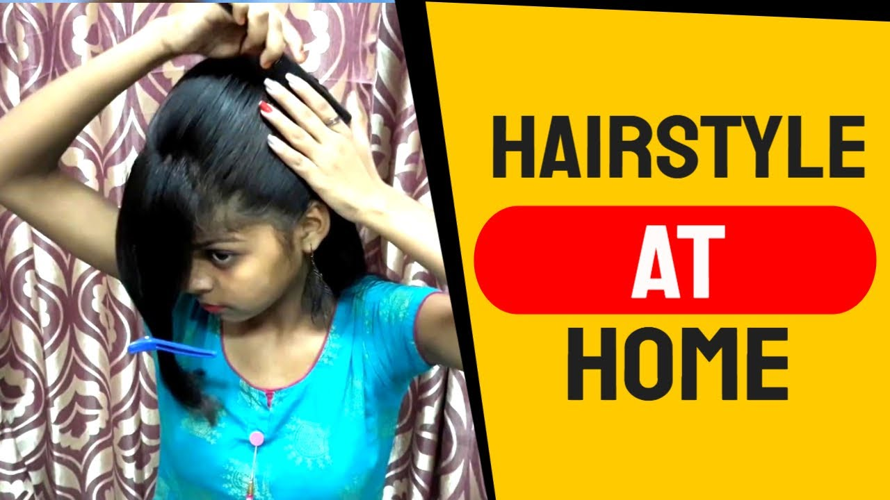 A Simple & Easy Self Hairstyle for Girl's. Hairstyle Girl. Self Hairstyle at Home. - YouTube