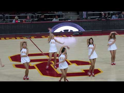 USC Song Girls - Halftime performance USC vs Santa Clara 12/17/2017