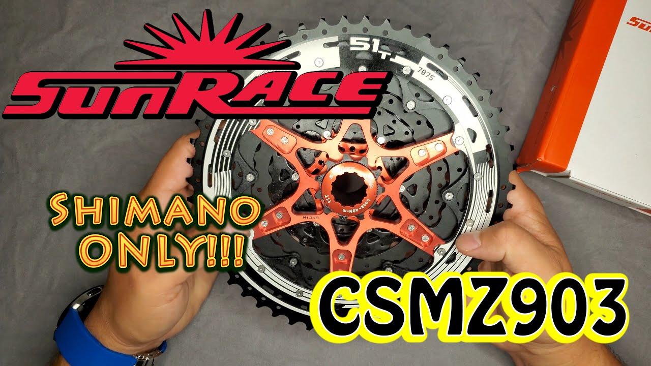 Shimano HG NEW Sunrace MZ903 12 Speed 11-51T MTB Cassette Black Sprocket Wide
