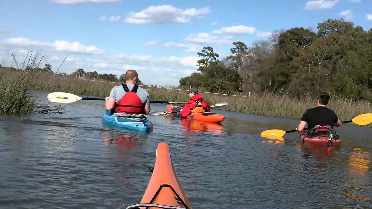 Kayaking Shem Creek, Mt Pleasant, SC 3-4-2012 - YouTube