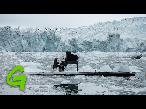 Pianist Ludovico Einaudi performs on the Arctic Ocean