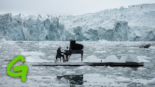 Pianist Ludovico Einaudi performs on the Arctic Ocean