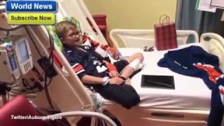 Emotional video shows Cam Newton surprising terminally ill 10-year-old boy