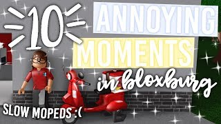 10 Annoying Moments in Bloxburg YOU Can Relate To! | ft. Fans | Roblox Bloxburg Skit | alixia