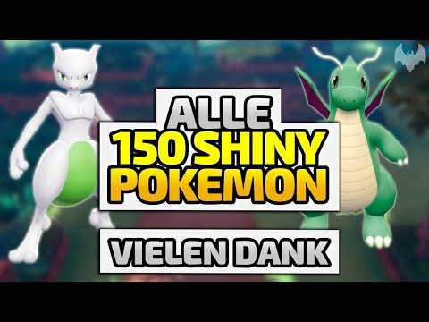 150 SHINY-POKEMON Auf Level 100 - ♠ Living Shiny Dex ♠ - Deutsch German - Dhalucard
