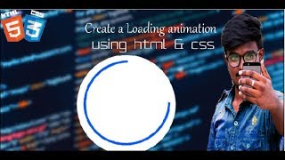 How to create loading animation in html -CSS loading spinner-By Techy tech