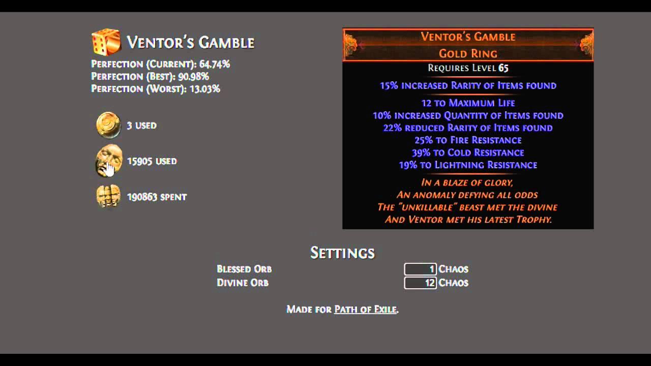 30000 divine on ventor s gamble youtube