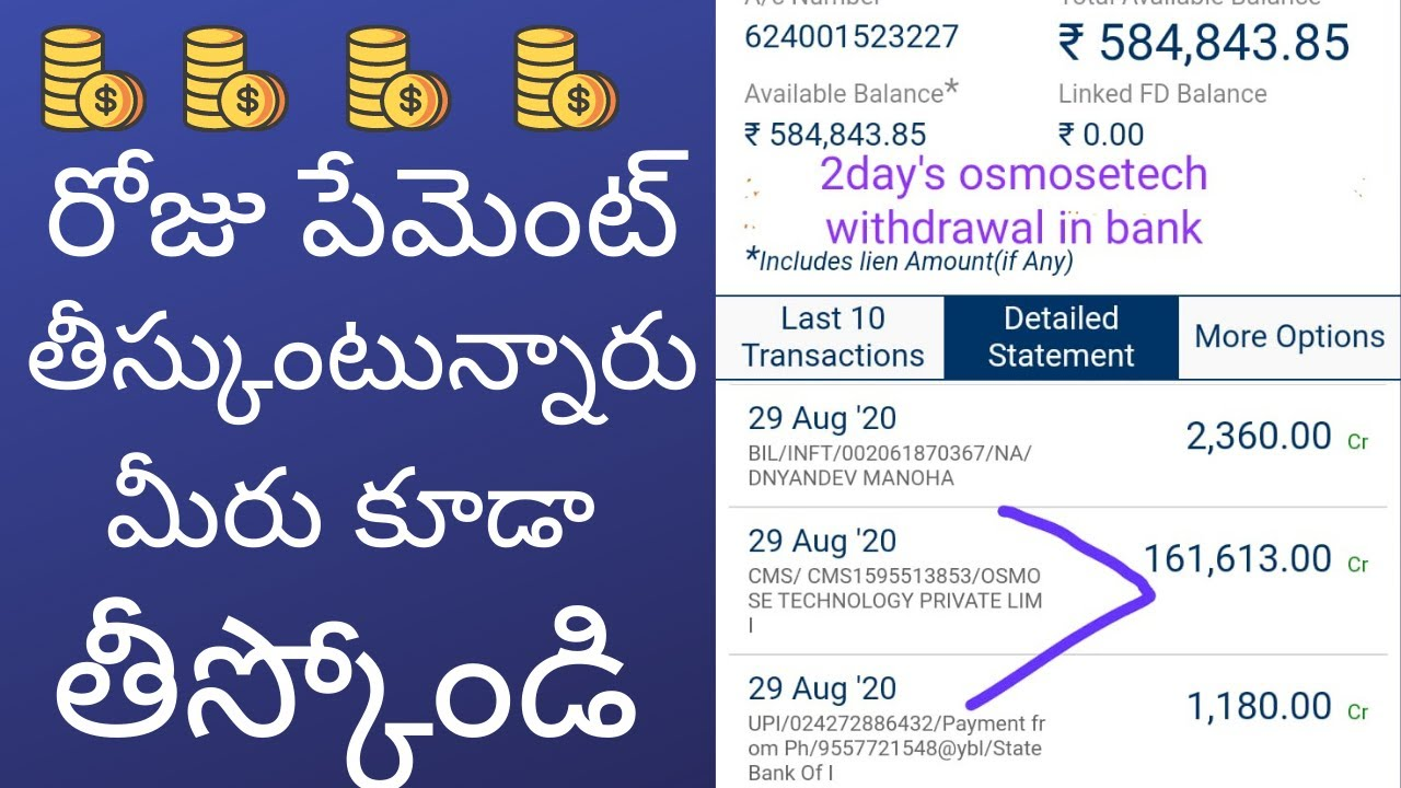 Osmos Technology Pvt Limited Telugu Full Plan Review Intro Part 1 Working Non Working Youtube