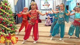 Download Новогодний утренник в Детском саду | Сказка Дед Мороз и баба Яга путешествуют по странам Mp3 and Videos