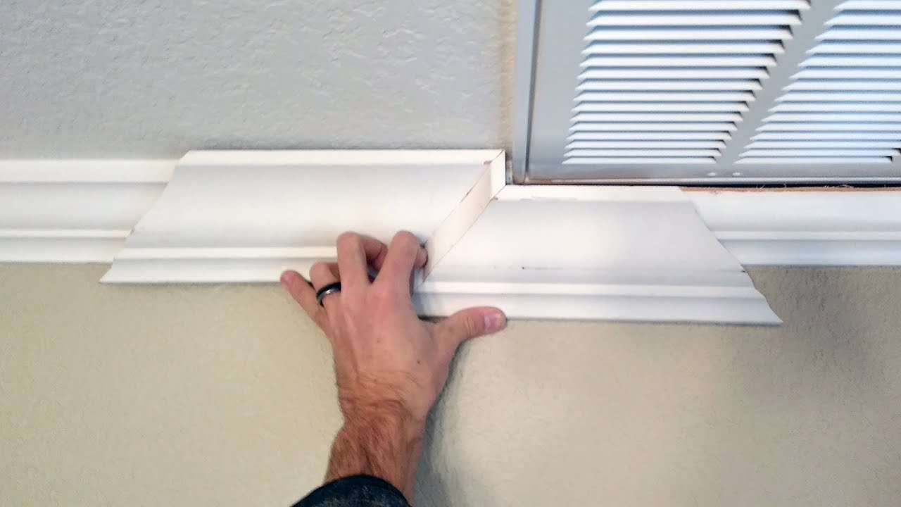 Step down crown molding