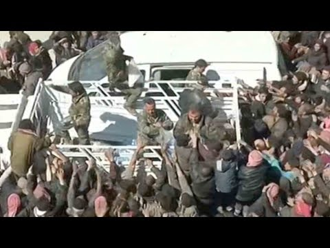 Thousands more civilians flee devastated Eastern Ghouta in Syria
