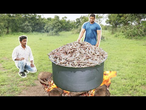 PLENTY OF RIVER PRWAN PICKLE MAKING | PRAWNS RECIPE | JUNGLE COOKING |