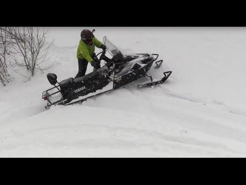 Тест снегохода Ямаха Викинг с 8 минуты, покатушка на снегоходах Салехард GA 03092015