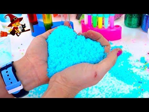 Creamos la Nieve Mágica de Colores y Purpurina