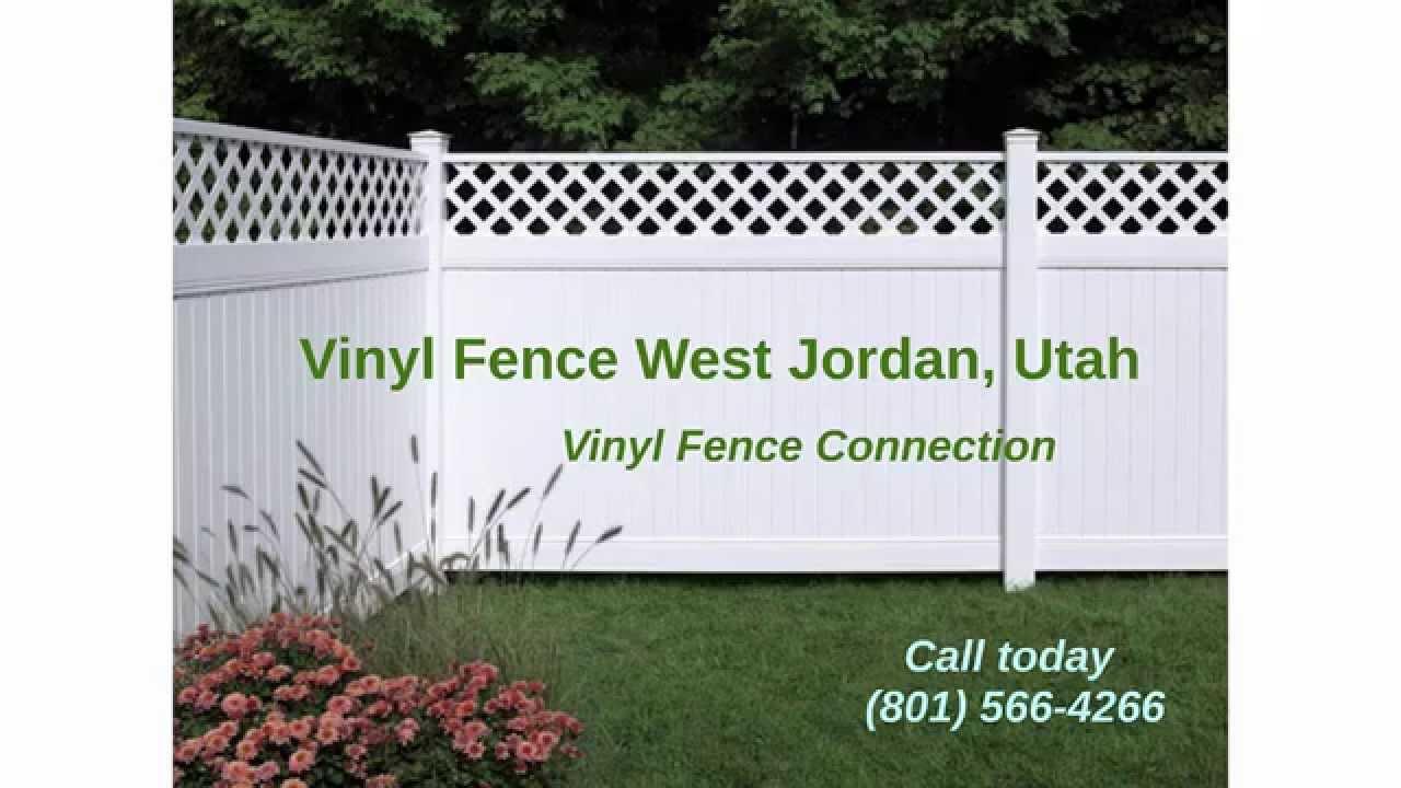 Vinyl Fence West Jordan Utah Vinyl Fence Connection