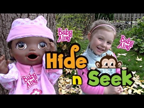 BABY ALIVE plays HIDE AND SEEK! (Surprise ending) The Lilly and Mommy Show. Baby Alive toy play.