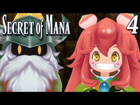 Secret of Mana Remake PC STEAM Part 4 POPOI THE SPRITE + DWARF VILLAGE ~ Gameplay Walkthrough
