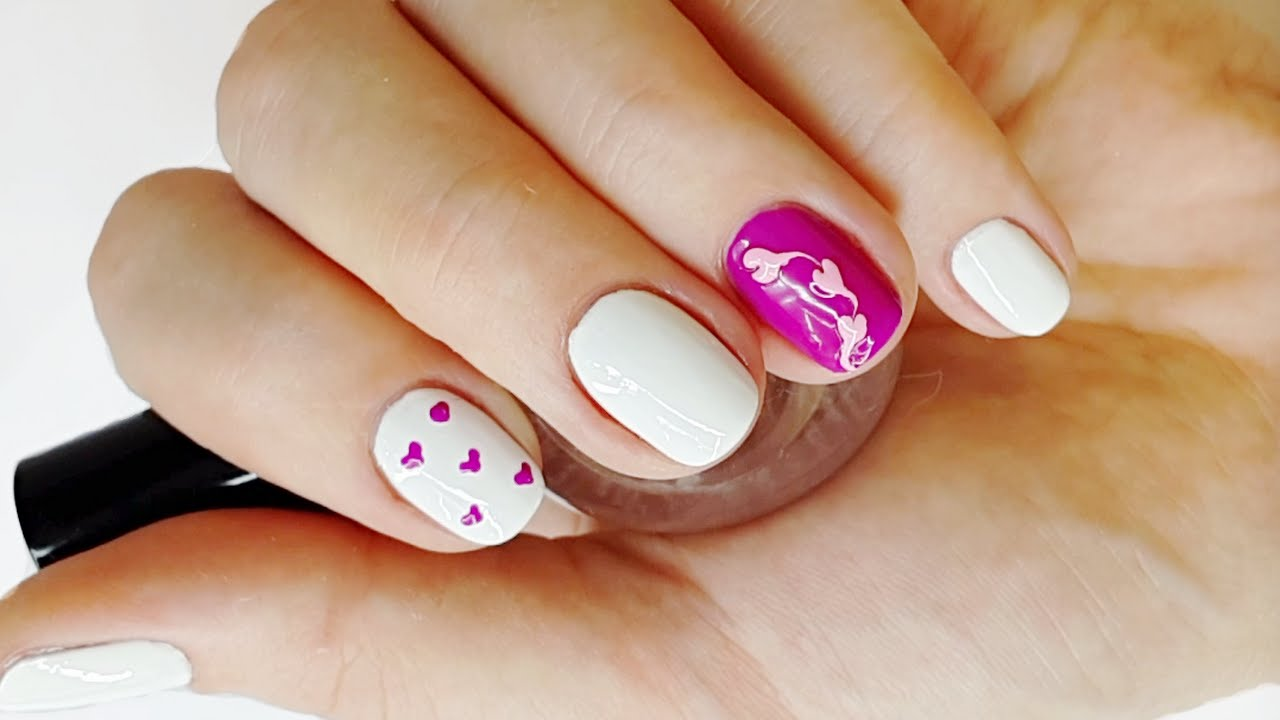 Heart Nail Designs For Beginners Easy Heart Nail Art For Short