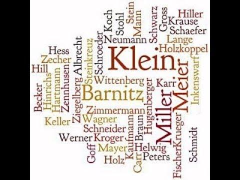 Немецкие фамилии и их значение