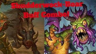 Shudderwock Stonetusk Boar Combo! OTK Potential! [Hearthstone Game of the Day]