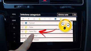 Inserimento POI (autovelox e simili) con e senza suono disponibili per VW, Seat e Skoda