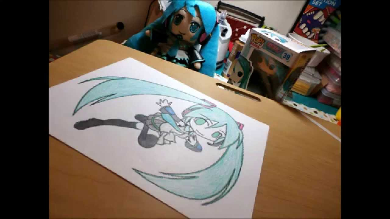 coloring miku time lapse coloring page youtube
