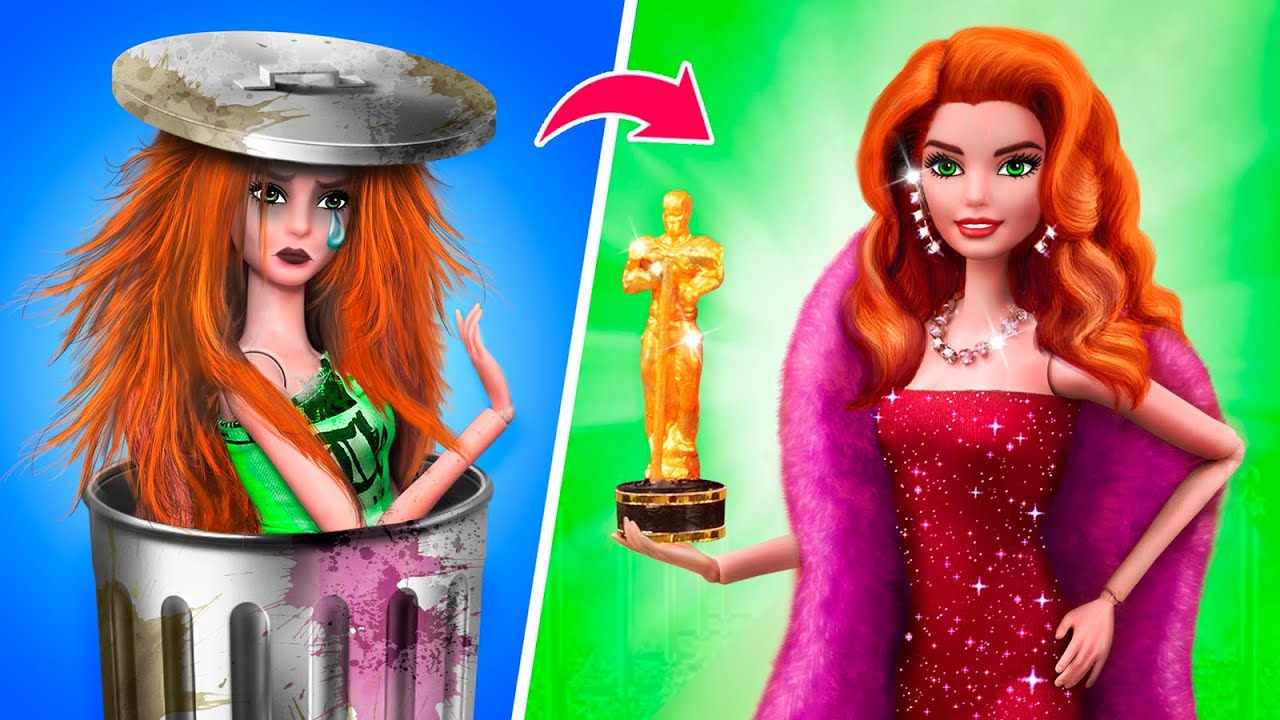 Transformation De Poupée Barbie / 10 Idées De Miniatures DIY Pour Barbie
