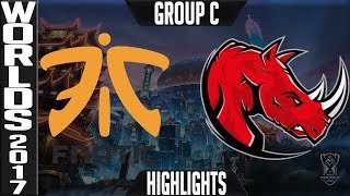 fnatic vs kaos latin gamers highlights game 2 s7 worlds 2017 play in group c fnc vs klg