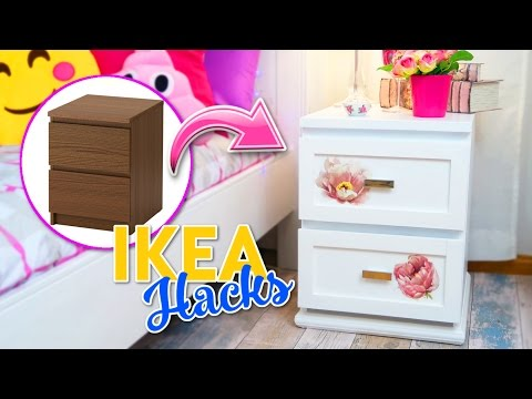 IKEA HACKS - ROOM DECOR IDEAS - MALM FURNITURE MAKEOVER - DECOR YOUR ROOM WITH LITTLE MONEY