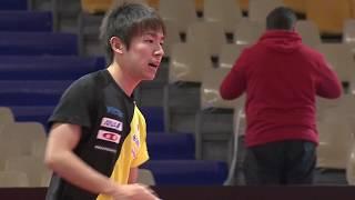 男子ワールドカップ2018 丹羽孝希 試合会場練習