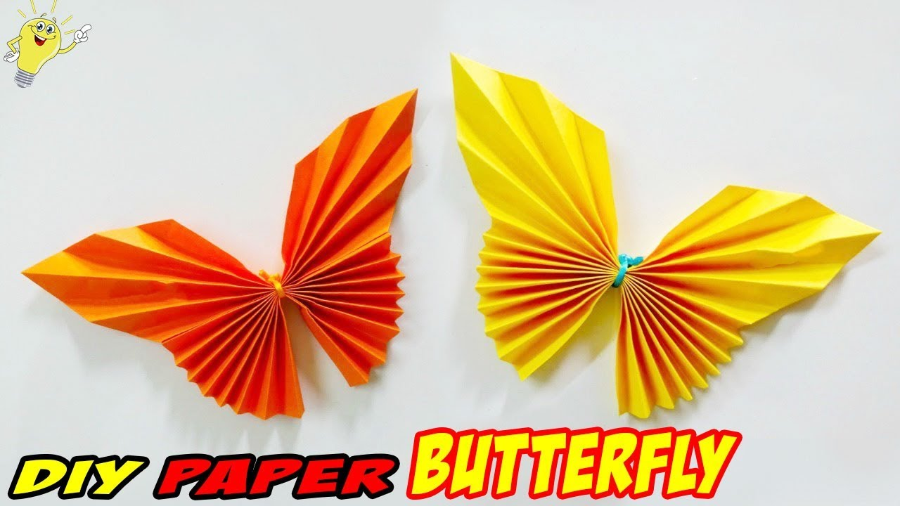 Origami Butterfly Paper - Easy and Fast - Crafts - YouTube | 720x1280