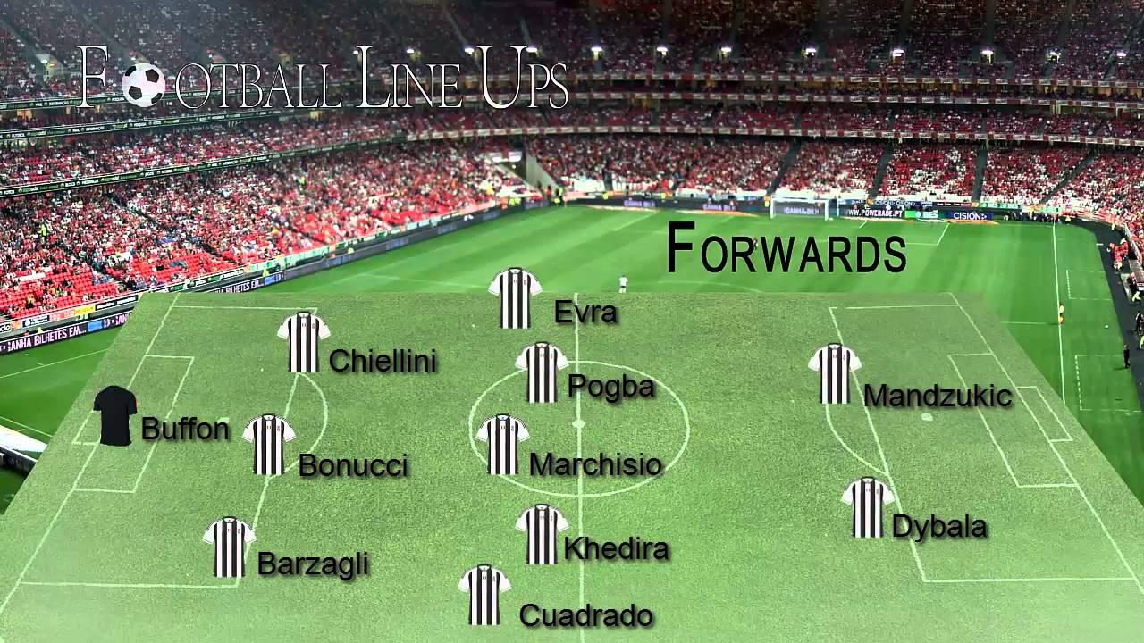 juventus vs fiorentina juventus starting lineup serie a