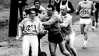 Meet the first woman to run the Boston Marathon