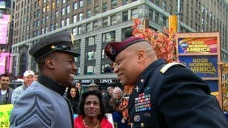 Soldier Surprises Dad Live on 'Good Morning America': West Point's Cameron Goins Reunites with Dad