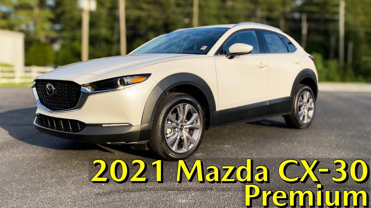 First Look 2021 Mazda Cx 30 Premium Package In Snowflake White Pearl Youtube