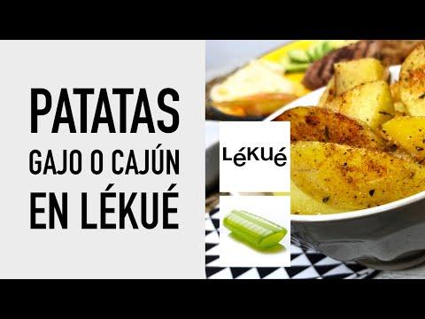 Patatas Gajo o Cajún en Lékué [al Microondas] Receta fácil en estuche de vapor